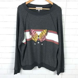 NEW Wildfox Butterfly Sweatshirt